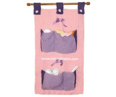Cómo tejer un organizador para accesorios de bebe en dos agujas o palitos