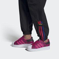 adidas Superstar Bold Shoes - Burgundy   adidas US Superstars Shoes, Stand Tall, Toe Shoes, Adidas Superstar, Snake Skin, Your Hair, Burgundy, Celebrities, Sneakers