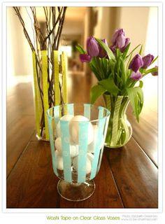 Decorando e redecorando vasos...