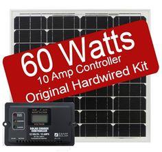 Zamp Solar 60 Watt 10 Amp Original Hard-wired Kit -RVupgrades.com