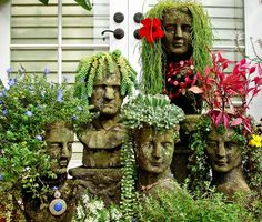 Not sure what attracts me to these, but I think they're perfect for a garden that doesn't take itself too seriously.