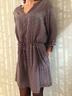 vestido gasa burdeos ene efe boutique on line. El vestido perfecto de entretiempo #vestidos #otoño