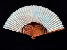Japanese Hand Fan Vintage Paper Fan Mai by VintageFromJapan