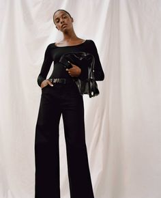 Le Fashion: 5 Minimalist Fall Outfit Ideas to Wear All Season Long Outfit Jeans, Jeans Trend, Beste Jeans, Wide Leg Jeans, Colorful Fashion, Flare Jeans, Winter Outfits, Organic Cotton, Women Wear
