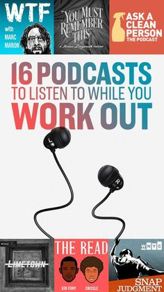 16 Incredibly Interesting Podcasts To Get Lost In While You Work Out - Podcast Books Health Fitness Fitness Workouts, Fun Workouts, Fitness Tips, Health Fitness, Fitness Gear, Female Fitness, Enjoy Fitness, Fitness Models, Funny Fitness