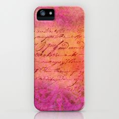 D-SIGN PINK iPhone Case $35 by #VIAINA DESIGN
