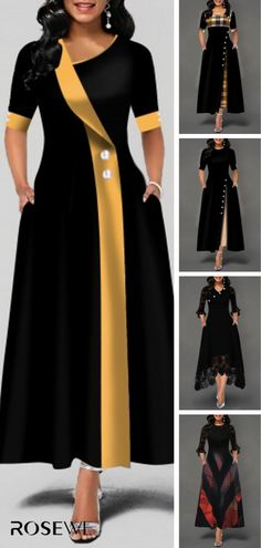 Long African Dresses, Latest African Fashion Dresses, Frock Fashion, Women's Fashion Dresses, Dress Outfits, Black Dresses Online, Dress Clothes For Women, Classy Dress, The Dress