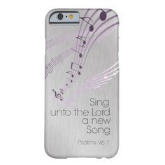 Psalms: Sing unto the Lord a new Song Barely There iPhone 6 Case #Psalms #iphonecases #bibleverse