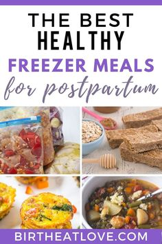 Healthy freezer meal recipes for new moms to make for postpartum recover. Easy meals for after you have a baby meals for new moms crockpot Healthy Freezer Meals for New Moms - Birth Eat Love Vegetarian Freezer Meals, Healthy Freezer Meals, Freezer Cooking, Easy Meals, Inexpensive Meals, Frugal Meals, Crockpot Meals, Cooking Tips, Baby Food Recipes