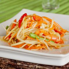 Thai Green Papaya Salad - this was one of my favourites in thailand! Need to find somewhere that sells green papaya here