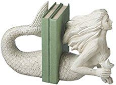 mermaidhomedecor - Resin Mermaid Bookends White $65.00