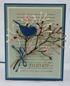 Bluebird Journey card by Jenny Griffiths. Jenny will be teaching at Simple Pleasures Rubber Stamps and Scrapbooking Aug 2014! Simple Pleasures Stamps and Scrapbooking.