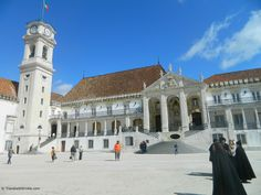 Coimbra Portugal - coimbra university . oldest university in Portugal. Coimbra is to Portugal as is Salamanca is to Spain. The students are very traditional here, and wear long black capes, the girls in black skirts and the boys in pants of course!