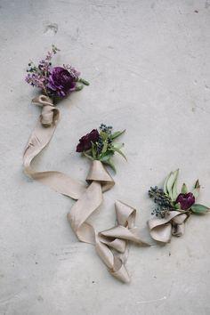 Organic boutonnieres by Amy Osaba | Laura Catherine Organic Photographs