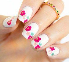 45 Spring Nail Art Designs - Nail Art Ideas for Spring 2019 Manicures Flower Nail Designs, New Nail Designs, Nail Designs Spring, Cute Spring Nails, Spring Nail Art, Summer Nails, Spring Art, Spring Style, Spring 2015