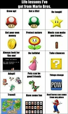 Life advice from Mario Bros!