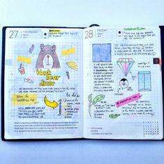 Hobonichi .| 2014.03.27-28 |. #hobonichitecho #hobonichi #planner #journal