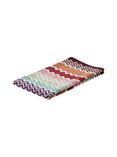 Punainen/keltainen/liila/vihreä Missoni Home Rufus-pyyhe Bathroom Ideas, Beach Mat, Outdoor Blanket, Decorating Bathrooms