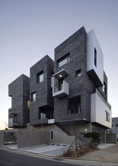 Best Ideas For Architecture and Modern Design : – Picture : – Description H by A.A / Hyangchon-dong, Sacheon, Gyeongsangnam-do, South Korea Brick Architecture, Residential Architecture, Amazing Architecture, Contemporary Architecture, Interior Architecture, Arch Building, Building Facade, Building Design, Facade Design