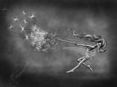 drawing of dancing with dandelions by an artist in England  FB page Wire Sculpture by Fantasywire  web addy http://www.fantasywire.co.uk/ my dream is own one of his pieces someday