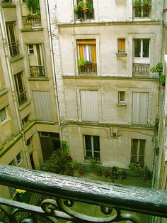 Reminds me of the view out of our hotel in Paris. :)