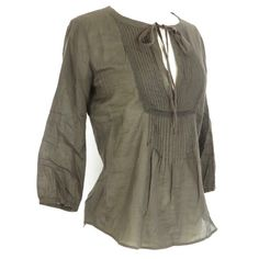 THEORY Semi Sheer brown peasant blouse THEORY EUC no signs of wear, beautiful and delicate top. Three quarter length sleeves. Great as a beach cover up or for day to evening summer looks. Theory Tops Blouses