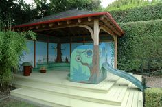 Childrens Playhouse, Playhouses, Murals, Projects, Log Projects, Blue Prints, Wall Paintings, Mural Painting, Wall Murals