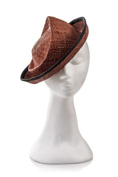 by JUSTINE HATS #millinery #judithm #hats I like the twist on a class shape, giving it a bit of funk.