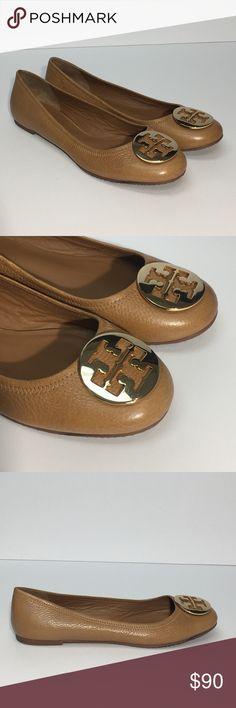 Tory Burch tan flats size 12 Barely worn Tory Burch flats, tan leather size 12 Tory Burch Shoes Flats & Loafers