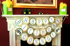 Happy Birthday Banner that I made for Connor's John Deere Party!