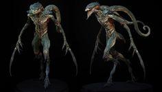 Raptor by Rafael Grassetti Alien Concept Art, Creature Concept Art, Creature Design, Aliens, Xingu, Beast Creature, Alien Design, Alien Creatures, Fantasy Creatures