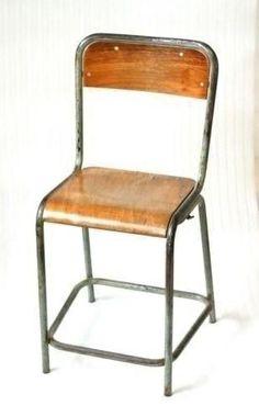 Unieke Franse hoge stoel barkruk kruk #atelierstoel #tekenstoel #schoolstoel