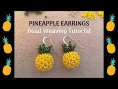 Beaded earrings 383650462007769887 - Beaded Pineapple Earrings using Chenille stitch Bead Jewellery, Seed Bead Jewelry, Seed Bead Earrings, Diy Jewelry, Jewelry Ideas, Hoop Earrings, Handmade Jewelry, Beaded Earrings Patterns, Beading Patterns