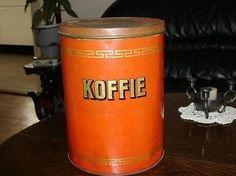 Antiek koffieblik.