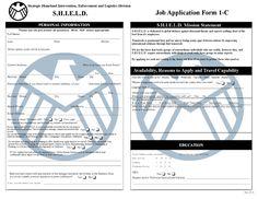 S.H.I.E.L.D. application form