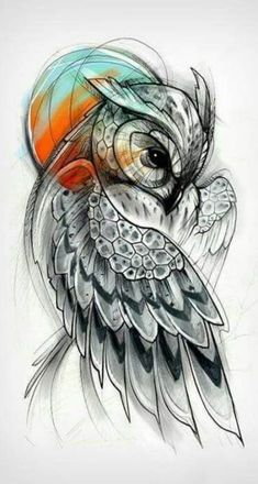 Pin by cindy jay on to be tattoos, tattoo drawings, owl tattoo design. Trendy Tattoos, Unique Tattoos, Cool Tattoos, Symbolic Tattoos, Unique Animal Tattoos, Gorgeous Tattoos, Popular Tattoos, Owl Tattoo Design, Best Tattoo Designs