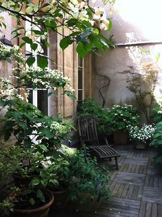 Wake up to this Parisian courtyard. Rent it here: http://rental.girlsguidetoparis.com/
