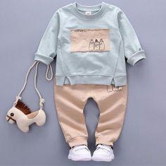 Kids 2PCS Fashion Set - 4 Colors (0 To 24M)