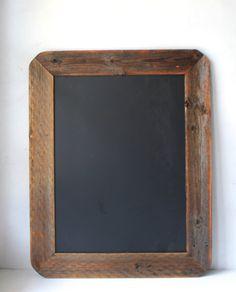 Wood Framed Chalkboard  Reclaimed Wood  Kitchen by HurdandHoney, $70.00
