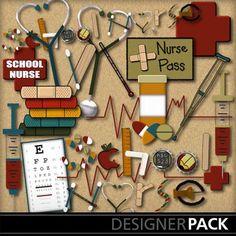 Clip Art | School Daze Nurse Add-On-(MagsGfx) | Kid Fun, Science, School | PrintMaster
