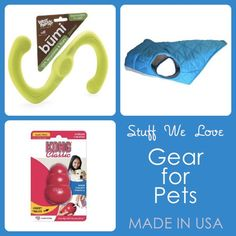 When it comes to our cats and dogs, you can get everything you need while buying American and supporting American jobs. Today, we're sharing some of our favorite toys and gear for pets, all American-made. @USA Love List