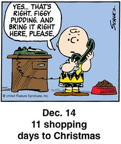 Christmas countdown panel - This is a classic countdown panel from 2002 Days To Christmas, Peanuts Christmas, Charlie Brown Christmas, Charlie Brown And Snoopy, Christmas Countdown, Christmas Humor, Christmas Quotes, Christmas 2016, Christmas Trees