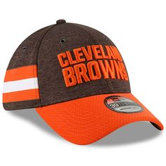 Men s New Era Brown Orange Cleveland Browns 2018 NFL Sideline Home Official  39THIRTY Flex Hat dee049910