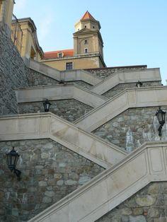 Castle steps,  Bratislava, Slovakia