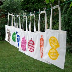 Eco Friendly Screen Printed Tote Bag Natural Cotton, Organic and Fair Trade: When life gives you lemons, ask for salt and tequila. $13,00, via Etsy.