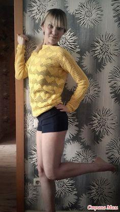 """Вот такой пуловер из хлопка связался буквально за пару дней. Вдохновило яркое солнышко =) Использовала пряжу """"Анна Twist"""", крючок№2, ушло 3,5 моточка.  Схемка сердечка"""