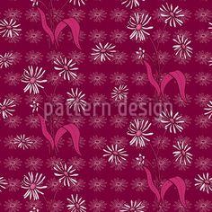 Daisy Flowers Purple by Katrin Kristjansdottir available as a vector file on patterndesigns.com Vector Pattern, Pattern Design, Swiss Design, Daisy Flowers, Vector File, Surface Design, Patterns, Purple, Block Prints