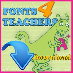 31 best school fonts for teachers and Parents. Create hundreds of worksheets for kids to practice handwriting, spelling or penmanship at school. Tracing dots, lines, and arrows or a combination. The complete set of classroom fonts includes:  6 Print Writing Fonts 6 DNealian-Style Fonts 6 Cursive Writing Fonts 2 Phonics Fonts 2 American Sign Language Fonts 3 Math Fonts 6 Decorative Fonts