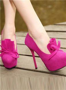 Perfect Fancy Bowknot Princess Round Toe Stiletto Heels Pump Shoes