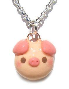 Kawaii Pig Necklace